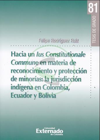Hacia un lus Constitucionale Commune en materia de reconocimiento y protección de minorías: la jurisdicción indígena en Colombia, Ecuador y Bolivia.